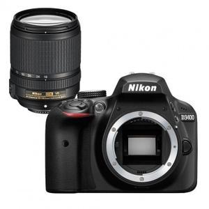 Yksisilmäinen peiliheijastuskamera Nikon D3400 - Musta + objektiivi Nikon AF-S DX Nikkkor 18-140 mm f/3.5-5.6G ED VR