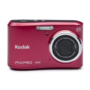Compact Kodak Pixpro FZ41 - Punainen + Objektiivi Kodak 27-108mm f/3-6.6