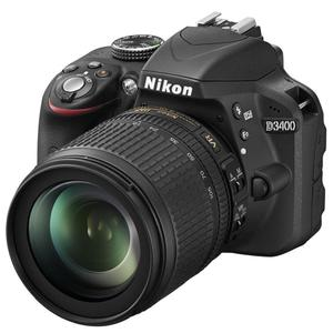 Reflex - Nikon D3400 - Noir + Objectif Nikkor AF-S DX VR 18-105 mm F/3.5-5.6 G ED