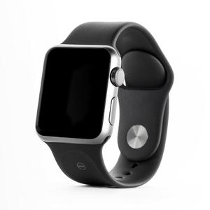 Apple Watch (Series 1) 42 - Aluminium Argent - Bracelet Sport Noir