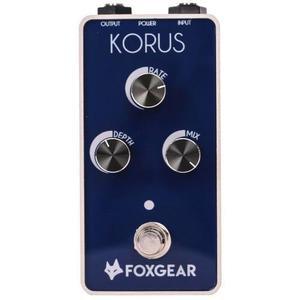 Effectpedaal FoxGear Korus - Wit/Blauw