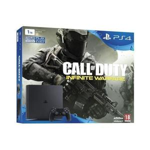 Console Sony Playstation 4 Slim 1 To - Noir + Manette + Call of Duty Infinite Warfare