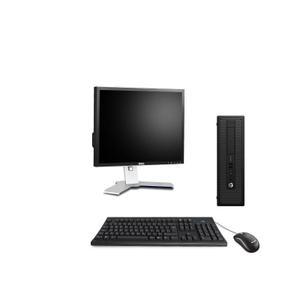 "Hp EliteDesk 800 G1 SFF 19"" Pentium 3,2 GHz - HDD 250 Go - 4 Go AZERTY"