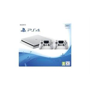 Console Sony PlayStation 4 Slim 500Go + 2 manette - Blanches