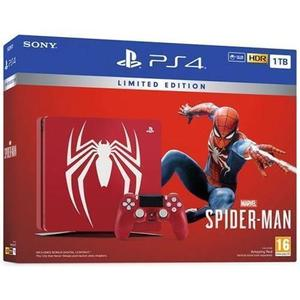 Sony PlayStation 4 Slim 1 TB Limited Edition Marvel's Spider-Man -pelikonsoli + peliohjain + Marvel's Spider-Man -peli - Punainen