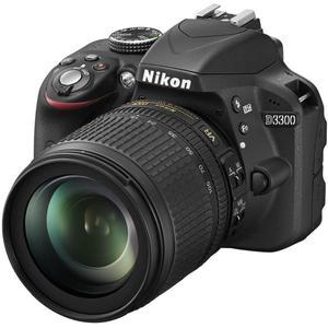 Reflex - Nikon D3300 - Schwarz+ Objektiv AF-S DX 18-105 mm VR