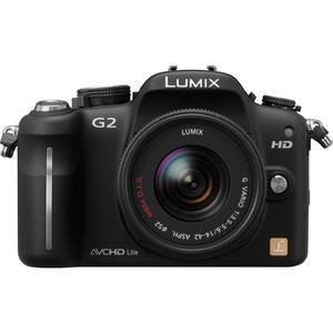 Hybride Panasonic Lumix DMC-G2 - Noir + Objectif Lumix G Vario 14-42 mm f/3.5-5.6 - Noir