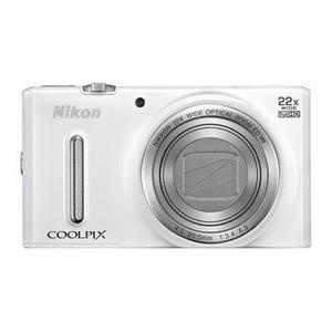 Kompaktikamera Nikon Coolpix S9700 Valkoinen + Objektiivi Nikon Nikkor Wide Optical Zoom 25-750 mm f/3.7-6.4 ED VR