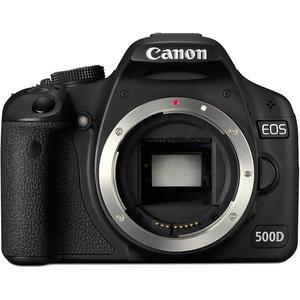 Cámara Réflex Canon EOS 500D - Negro + Objetivo Canon EF-S 18-55mm f/3.5-5.6 II
