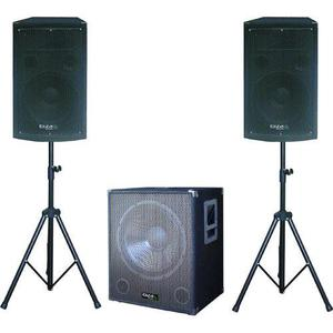 Enceintes sono Ibiza Sound Pack 1515 Sonorisation 2200W Caisson bi-amplifié