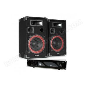 """Pack sonorisation 1000W - 2 Enceintes 12"""" + Amplificateur 2x500W avec EQ + Câblages"""