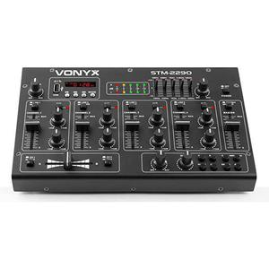 Geluidseffecten 8-kanaals DJ mixer PA Vonyx STM2290