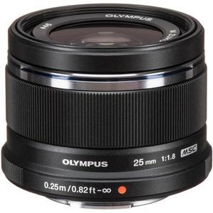 Objectif hybride Olympus M. Zuiko ED 25mm F/1,8 - Noir
