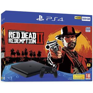 Console Sony PlayStation 4 Slim 500Go - Noir + Read Dead Redemption II