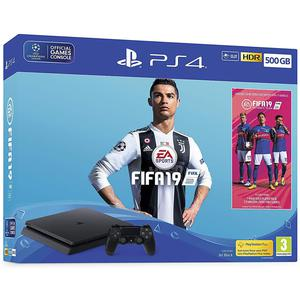 Console Sony Playstation 4 Slim 500 Go + Fifa 19 - Noir