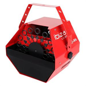 Machine à bulles 25W rouge Ibiza Light LBM10-RE
