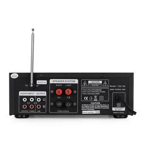Amplificateur Skytronic karaoké USB/SD/FM 160W + 2 Enceintes HiFi 140W + 2 Micros noir