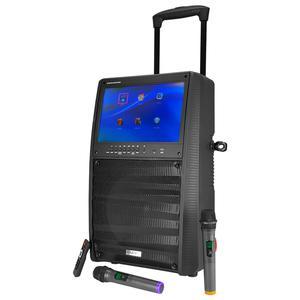 """Enceinte autonome 12"""" 800W - Ecran TFT couleur 15"""" - BT + 2 Micros UHF + Tel - PORT-TFT12"""