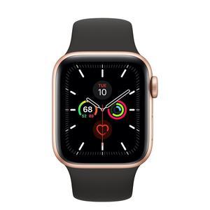 Apple Watch (Series 4) Septiembre 2018 40 mm - Aluminio Oro - Correa Deportiva Negro