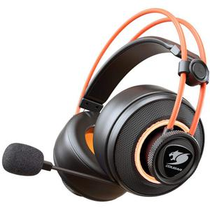 Cougar Immersa Pro Ti Μειωτής θορύβου Gaming Ακουστικά Μικρόφωνο - Μαύρο/Πορτοκαλί