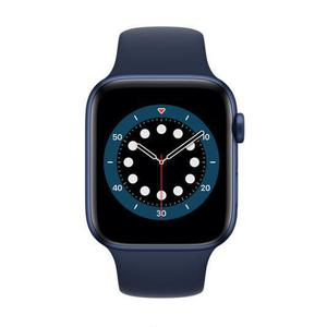 Apple Watch (Series 6) September 2020 44 mm - Aluminium Blauw - Armband Sport armband Blauw
