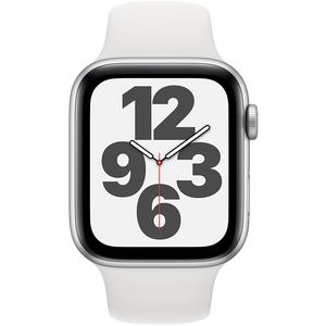 Apple Watch (Series SE) Septembre 2020 44 mm - Aluminium Argent - Bracelet Sport Blanc