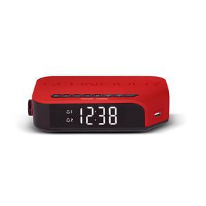 Radio Réveil Double Alarme Schneider SC310ACLRED - Rouge