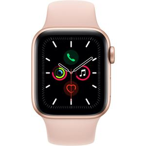 Apple Watch (Series 5) Syyskuu 2019 40 mm - Alumiini Kulta - Armband Sport loop Pinkki hiekka