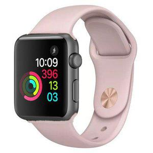 Apple Watch (Series 3) September 2017 42 mm - Aluminium Spacegrijs - Armband Sport armband Roze