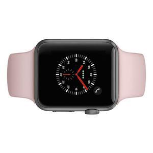 Apple Watch (Series 3) Syyskuu 2017 42 mm - Alumiini Tähtiharmaa - Armband Sport loop Pinkki
