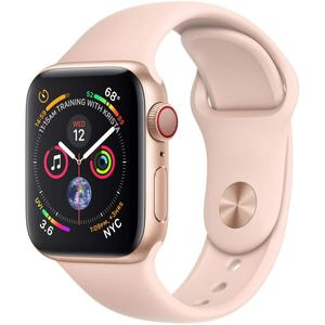 Apple Watch (Series 4) September 2018 40 mm - Aluminium Goud - Armband Sport armband Rozenkwarts