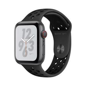 Apple Watch (Series 4) Syyskuu 2018 44 mm - Alumiini Tähtiharmaa - Armband Sport Nike Avaruusmusta (Space black)