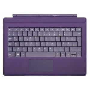 Tastiera con cover con tasti Microsoft per Microsoft Surface Pro 3 - Purple - QWERTZ