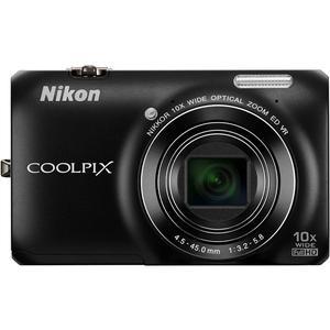 Compactcamera Nikon Coolpix S6300 - Zwart + lente Nikon Nikkor Wide Optical Zoom ED VR 25-250 mm f/3.2-5.8