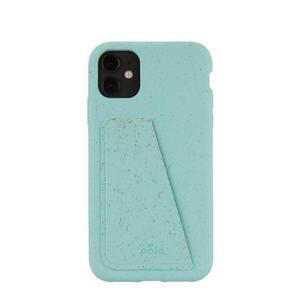 Coque Wallet écoresponsable, 100% biodégradable pour iPhone 11 - Bleu Puriste