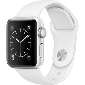 Apple Watch (Series 2) 42 mm - Aluminium Argent - Bracelet Sport Blanc