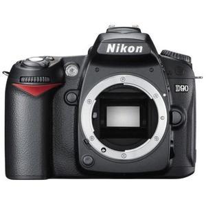 Spiegelreflexcamera Nikon D90 Schwarz + Lens Nikon Sigma 70-300 mm f/4-5.6 DG Macro