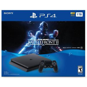 Gameconsole Sony PlayStation 4 Slim 1TB + Controller + Star Wars Battlefront II - Zwart