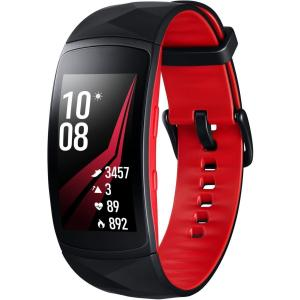 Montre Cardio GPS  Gear Fit2 Pro (L) - Rouge/Noir