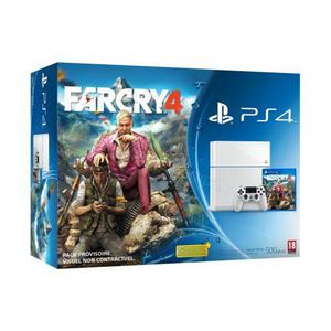 Console Sony PlayStation 4 500 Go blanc + Far Cry 4 - Blanc