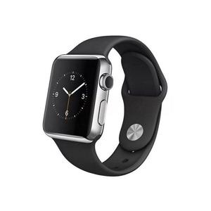 Apple Watch (Serie 2) September 2016 42 mm - Roestvrij staal Zilver - Armband Sport armband Zwart