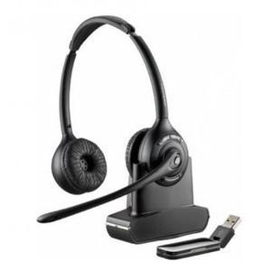 Kopfhörer Rauschunterdrückung mit Mikrophon Plantronics Savi W420-M - Schwarz