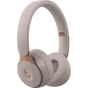 Beats By Dr. Dre Solo Pro Noise-Cancelling Bluetooth Headphones with microphone - Beige