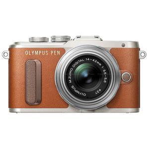 Cámara híbrida Olympus Pen E-PL8 - Marrón/Plata + lente Olympus M.Zuiko Digital ED 14-42mm f/3.5-5.6 EZ
