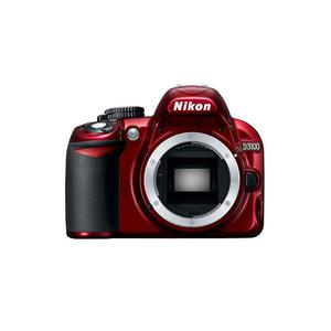 Nikon D3100 -järjestelmäkamera vain vartalo - Punainen