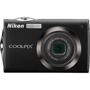 Compactcamera Nikon Coolpix S4000 - Zwart + lens Nikon Nikkor Wide Optical Zoom 27-108 mm f/3.2-5.9