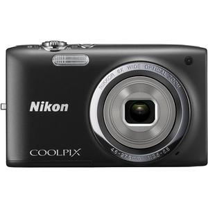 Kompaktkamera Nikon Coolpix S2700 Schwarz + Objektiv Nikon Nikkor Wide Optical Zoom 26-156 mm f/3.5-6.5