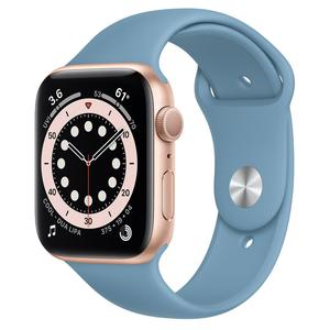 Apple Watch (Series 4) Septembre 2018 44 mm - Aluminium Or - Bracelet Sport Bleu