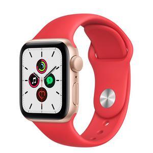 Apple Watch (Series 4) Septiembre 2018 40 mm - Aluminio Oro - Correa Deportiva Rojo