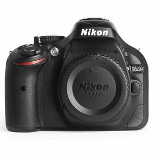 Spiegelreflexkamera Nikon D5200 Schwarz + Objektiv Sigma 70-300 mm f/4-5.6 DG Macro Autofocus